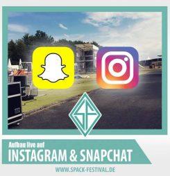 Aufbau auf Instagram und Snapchat