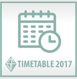 Der Timetable 2017