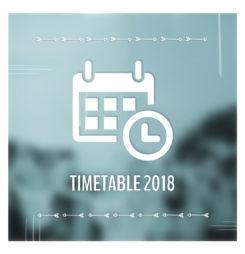 Der Timetable 2018